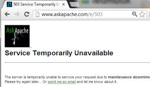 503 Service Temporary Unavailable by Http Status Codes