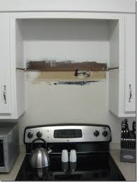 how to install over the range microwave without a cabinet hung up bean in love