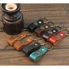classic hand ring holder images Leather key strap retro leather key ring holder handmade car key jpg