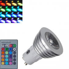 color changing light bulb with remote gu10 3w remote control color changing led bulb light flash 16 color