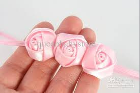 how to make baby flower headbands trial order mini satin ribbon roses flowers thin headbands