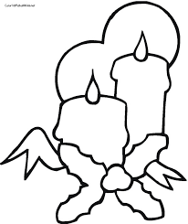 christmas candle coloring coloring pages