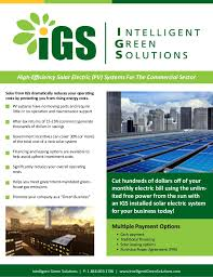 pv electric igs brochure commercial pv solar electric systems