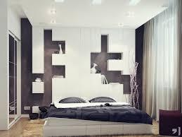 rangement mural chambre design interieur deco murale chambre tête lit rangement blanche