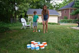 Outdoor Backyard Games Diy Backyard Games How To Make A Yard Pong Set