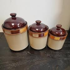 brown kitchen canister sets canister sets jars food storage the home depot