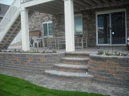 interesting front porch decoration using paver patio step outdoor