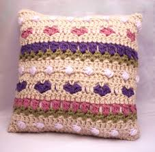 Knitted Cushion Cover Patterns 4 Name U0027crocheting Tulips And Hearts Crochet Cushion Cover