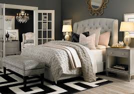 bassett bedroom furniture hgtv home custom upholstered paris arched winged bed by bassett