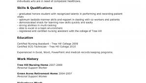 exles or resumes cna resume template free certified nursing assistant