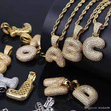 charm necklace with letters images Wholesale hot a z custom name bubble letters necklaces jpg