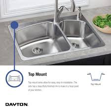 How To Replace A Drop In Kitchen Sink - dayton d117213 single bowl top mount stainless steel bar sink