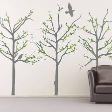 seasonal tree wall stickers by the binary box notonthehighstreet com seasonal tree wall stickers