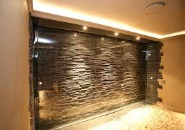 Graue Wand Und Stein Wohnzimmer Design Wand Stein