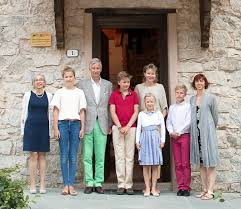 belgian royal family on in piedmont region of italy