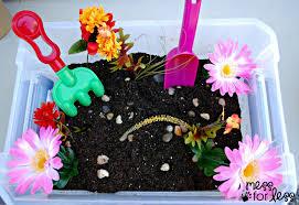 thanksgiving sensory bin garden sensory bin mess for less