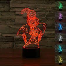 3d illusion lights spider man home bazar