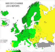 Europe Map Of Countries by Human Development Index 2014 Data In Europe Map Europe
