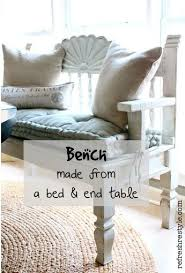 Bench Made From Bed Headboard 105 Best Benches Most Made From Old Headboards Images On