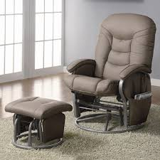 coaster recliners with ottomans casual leatherette glider recliner