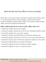 security officer cover letter examples top8armedsecurityofficerresumesamples 150514092014 lva1 app6892 thumbnail 4 jpg cb u003d1431595265