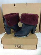ugg s layna boots black ugg australia s suede ankle high 3 in and up boots ebay