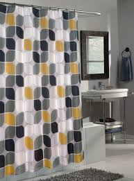 Yellow And White Shower Curtain Decorating Bathroom Updates Renovations Cool Yellow Curtains