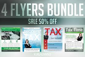 tax service flyers bundle flyer templates creative market