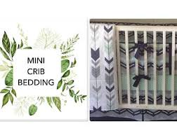 Mini Crib Bedding For Boy Baby Boy Mini Crib Bedding Etsy