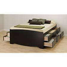 How To Build A Platform Bed With Drawers by Amazon Com Espresso Queen Mate U0027s Platform Storage Bed With 6