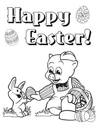 happy easter piggly wiggly give egg rabbit coloring pages