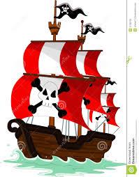 pirate ship cartoon stock photos image 37780793