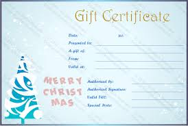 free holiday gift certificates templates to print certificate