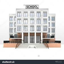 modern building design front facade view illustration