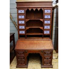 Antique Desk Secretary by Antique Secretary Desk And Hutch With Porcelain Tile Drawer Fronts