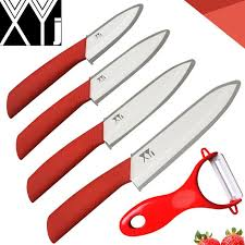 xyj new ceramic knife set chef slicing utility paring knife sharp