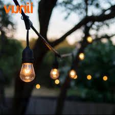 ip65 wedding lighting globe string lights with clear s14 bulbs ul