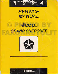 1994 Jeep Grand Cherokee Owner U0027s Manual Original