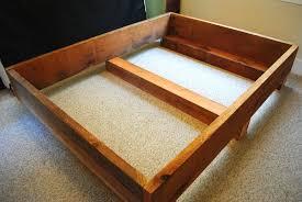 80 diy king size platform bed frame my projects pinterest