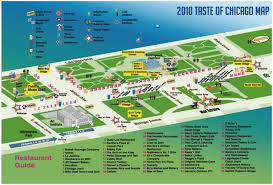 taste of chicago map 2010 taste of chicago map of restaurants chicago foodies