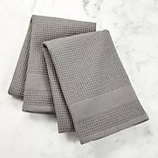 waffle terry aqua dish towels set of 2 crate and barrel