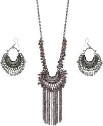 boho necklace set images Urbanela urbanela oxidized german silver gypsy look tribal antique jpeg
