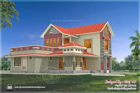 beautiful 4 bedroom villa elevation in 2000 sq ft house design plans
