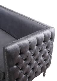 Tufted Sofas For Sale by Furniture Breathtaking Grey Velvet Sofa For Charming Home