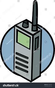walkie talkie radio police scanner stock illustration 39849076