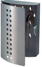 schluesselkasten design design schlüsselkasten edelstahl mit 9 haken schlüsselschrank