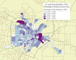 Map St Louis Know Your Region St Louis Area Population 1970 2010 Community