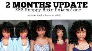 knappy clip in hair extensions 2 month update knappy hair extensions sew in youtube