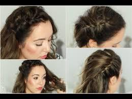 Hochsteckfrisurenen Selber Machen Einfach Schnell by Flechtfrisuren Schnell Einfach Für Mittellanges Haar I 5 Minuten