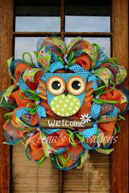 How To Make Halloween Mesh Wreaths by Best 20 Owl Wreaths Ideas On Pinterest Grapevine Wreath